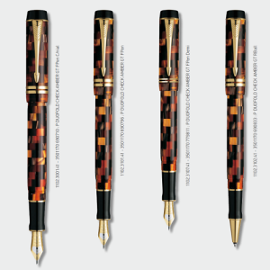 Parker Duofold Pearl Check Amber GT