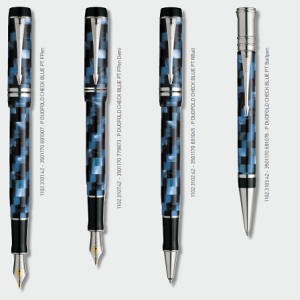 Parker Duofold Pearl Check Blue PT