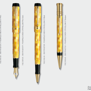 Parker Duofold Pearl Check Citr Yellow
